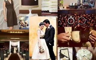 Свадьба в цвете капучино — идеи для молодожен