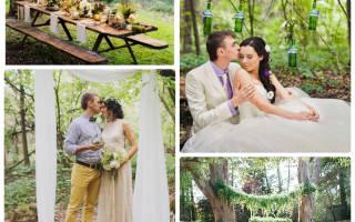 Свадьба в лесном стиле — пикник, джунгли, тропики