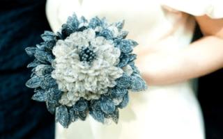 Свадебный букет из бисера — фото и мастер-класс