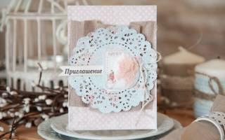 Пригласительные на свадьбу в стиле рустик своими руками