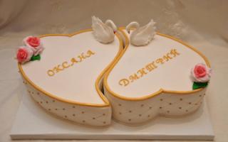 Свадебные торты с лебедями и розами — пошаговая инструкция