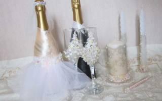 Украшение бутылок на свадьбу — мастер-класс по декору шампанского