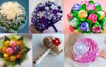 Голубой букет невесты — фото обзор и мастер-класс