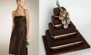 Шоколадная свадьба — идеи по оформлению зала, букета, нарядов