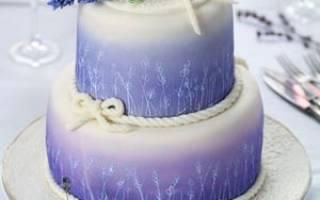 Свадебный торт в стиле прованс — оформление