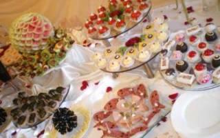 Свадебный фуршет: оформление, меню, рецепты закусок и блюд