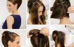 Свадебные прически на волосы средней длины своими руками