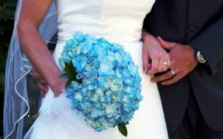 Бирюзовый букет невесты — фото и мастер-класс