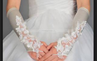 Свадебные перчатки, митенки для невест своими руками