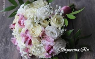 Букет невесты из пионовидных роз — идеи и мастер- класс