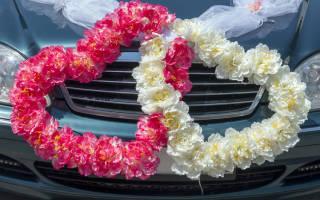 Бант на свадебную машину своими руками — как сделать
