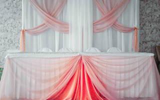 Розовый декор свадьбы — оформление зала в розово-мятных тоннах