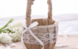 Букет на свадьбу в коробке, корзине своими руками