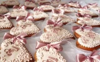 Пряники на свадьбу, имбирное, сердечками своими руками: рецепты