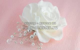 Свадебный гребень для волос своими руками- мастер-класс