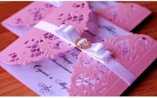 Пригласительные на свадьбу своими руками — идеи и мастер-классы