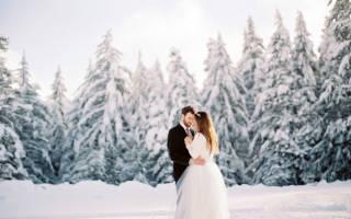 Зимняя свадебная фотосессия — идеи для молодоженов