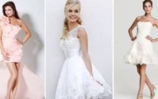Платье для росписи в загсе без торжества для невесты