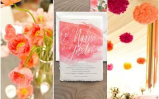 Свадьба в коралловых цветах — идеи оформления