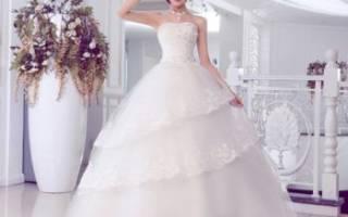 Кремовое свадебное платье — тренды 2018-2019 года