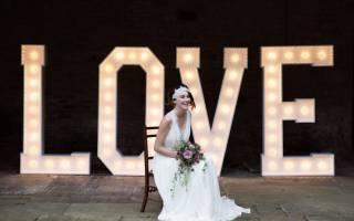 Буквы для фотосессии на свадьбу своими руками