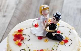 Фигурки жениха и невесты на свадебный торт: съедобные и несъедобные