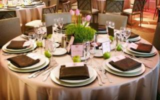 Сервировка свадебного стола своими руками с фото