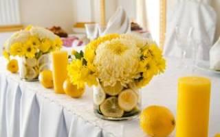 Свадьба в желтом цвете — оформление и образы молодых