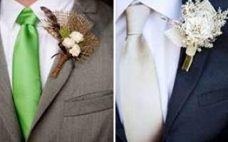Бутоньерка для жениха своими руками — мастер-класс