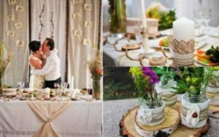 Оформление свадьбы в стиле — 10 вариантов стильного декора