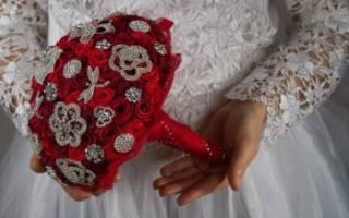 Свадебный брошь-букет своими руками — мастер-класс